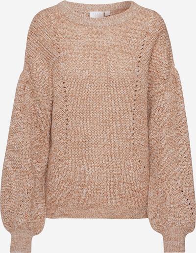 VILA Pullover 'SEE' in braun / weiß, Produktansicht