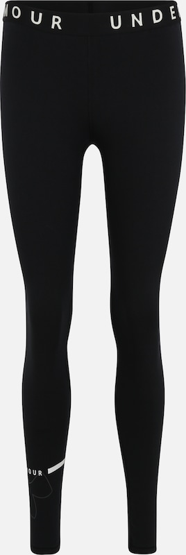 UNDER ARMOUR Sportleggings 'Favorite Big Logo Legging' in schwarz: Frontalansicht
