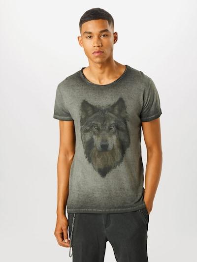 tigha Majica 'Wolf'   siva / temno siva barva, Prikaz modela
