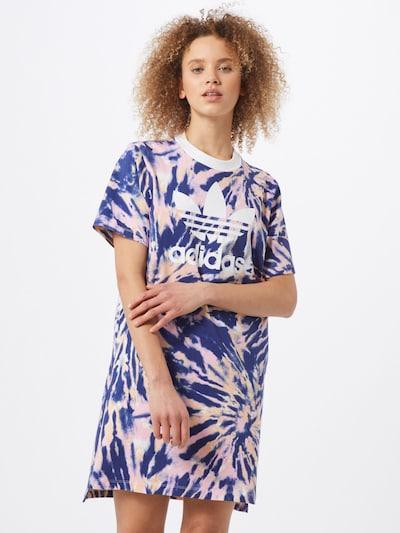 ADIDAS ORIGINALS Kleid in navy / hellorange / rosa / weiß, Modelansicht