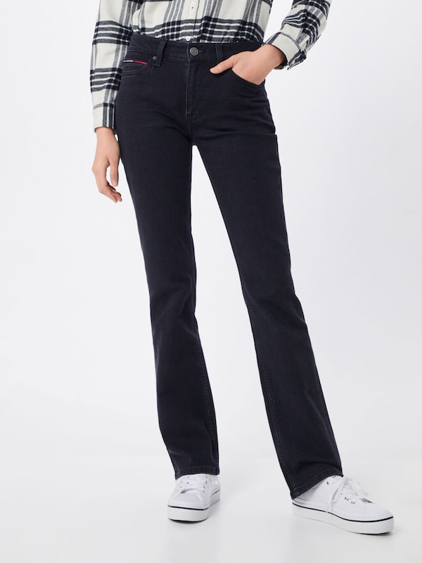 Tommy Jeans Jeans 'Bootcut   TJ 1979' in black denim, Modelansicht