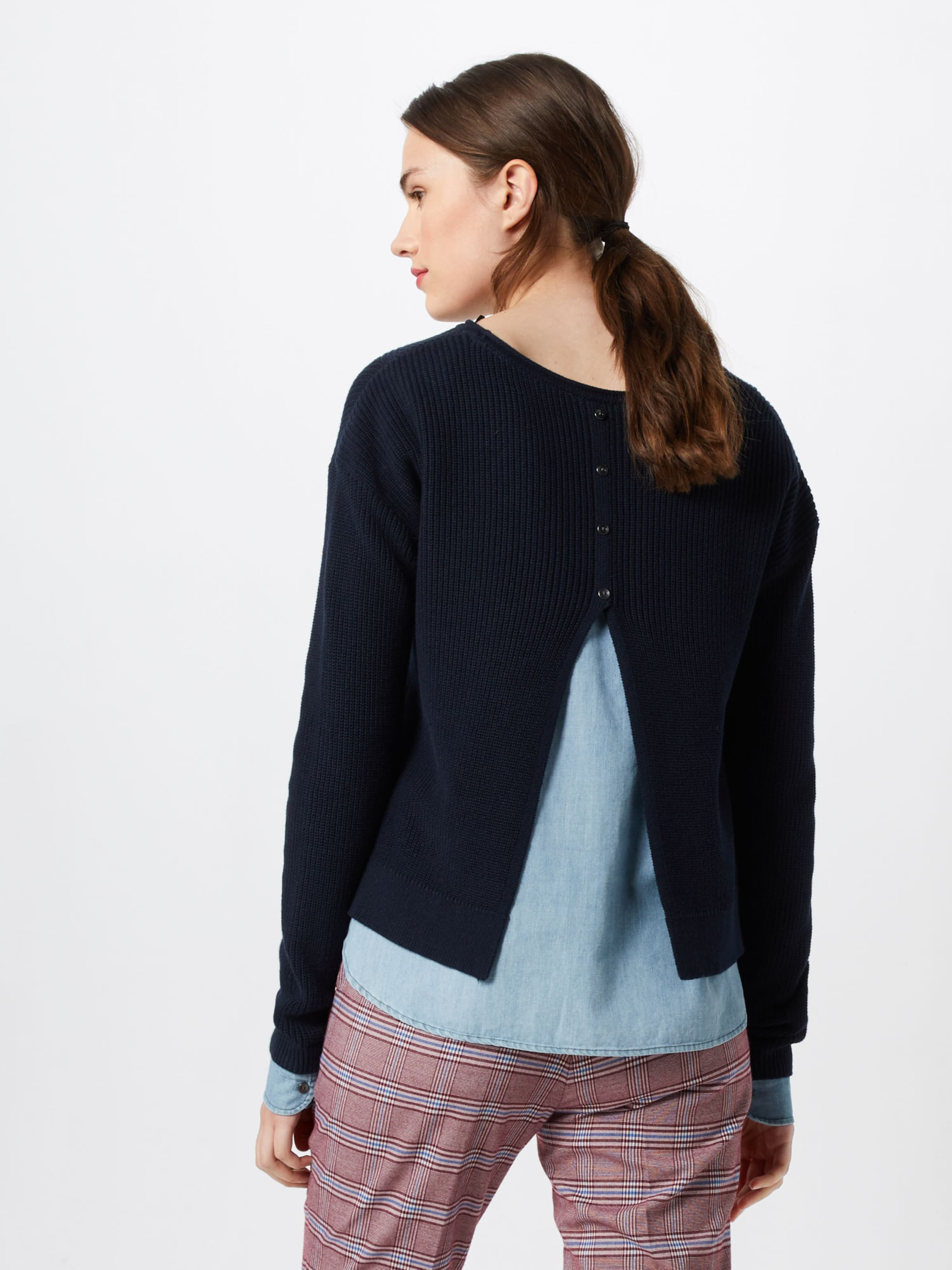 Pull over Bleu Marine '2layer En Esprit Edc Sweaters' By Optic EHID2W9