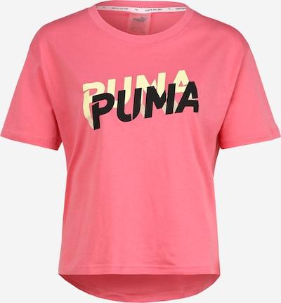 PUMA T-shirt fonctionnel en jaune / rose / noir, Vue avec produit