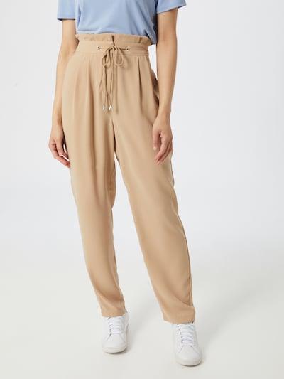 VERO MODA Pantalon à pince en beige clair, Vue avec modèle