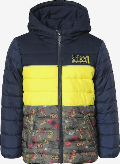 s.Oliver Junior Jacke in nachtblau / gelbmeliert / khaki / orange / pink, Produktansicht