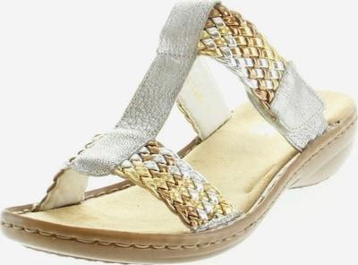 RIEKER Pantolette in gold / silber, Produktansicht