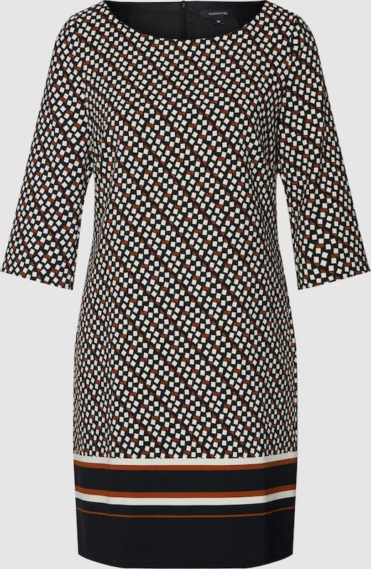 COMMA Kleid in burgunder   schwarz   naturweiß  Neuer Aktionsrabatt