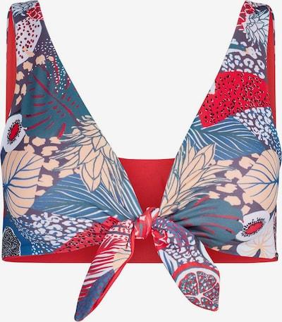 Skiny Bikinitop 'Fruit Pool' in blau / rot, Produktansicht