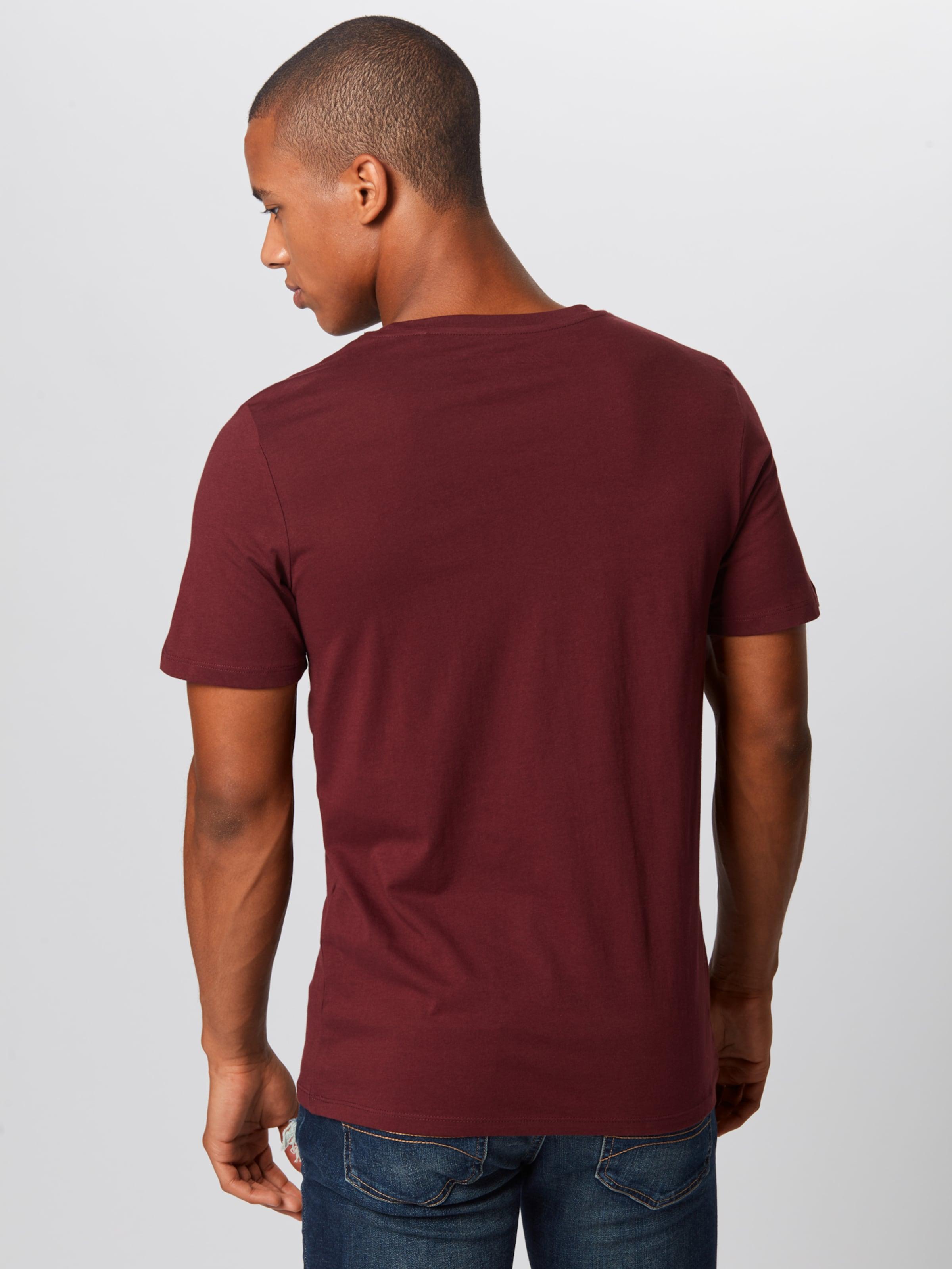 In Jackamp; Weinrot Jones 'logo' Shirt Y7g6ymIvbf