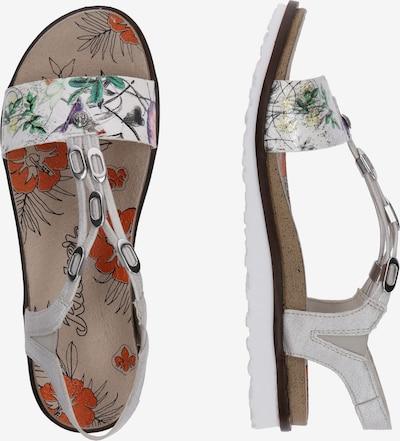 RIEKER Sandalen met riem in de kleur Geel / Groen / Wit: Zijaanzicht
