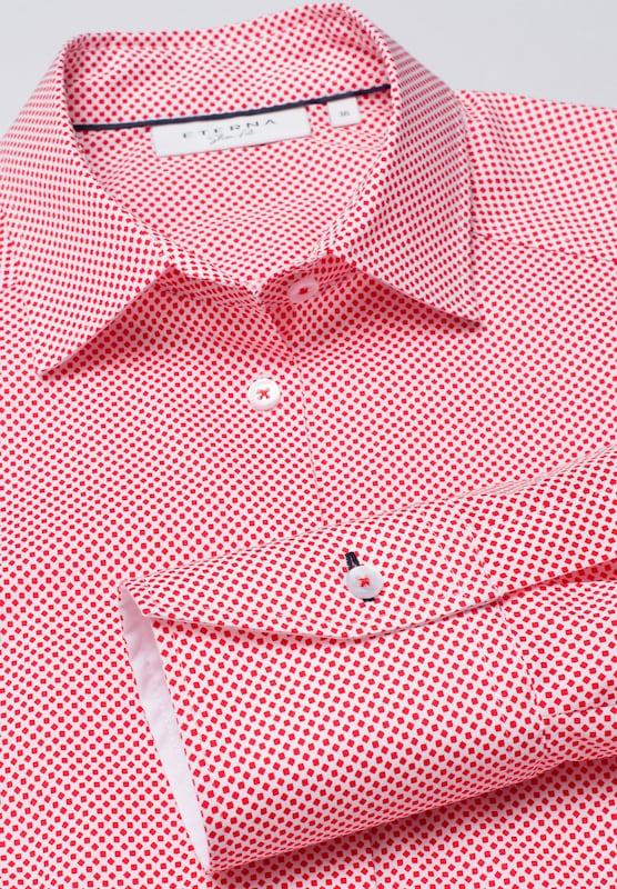 ETERNA Blause in hellrot     weiß  Neu in diesem Quartal 954d19
