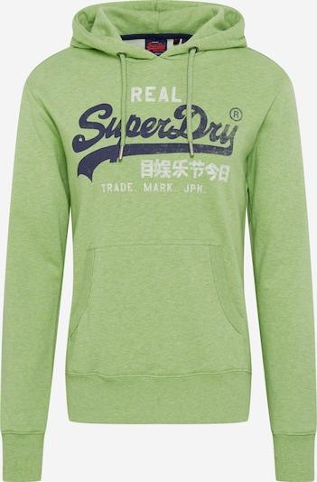 Superdry Sweat-shirt 'PREMIUM GOODS ' en bleu foncé / vert clair / blanc, Vue avec produit