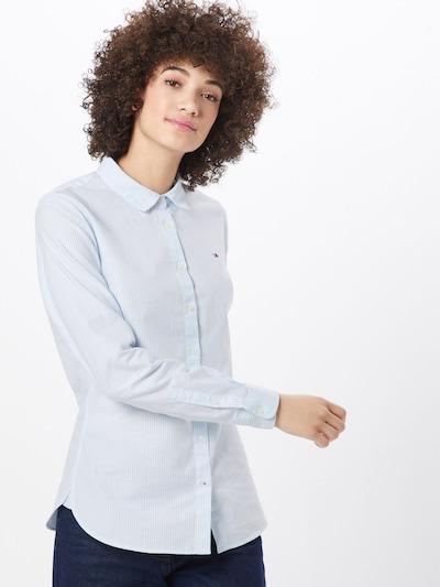 TOMMY HILFIGER Bluse in hellblau / weiß, Modelansicht