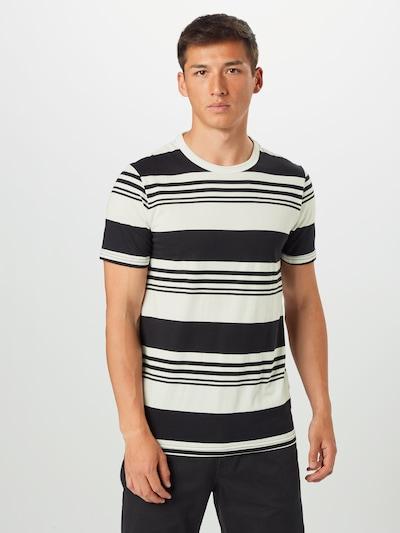 JACK & JONES Koszulka 'JPROAK' w kolorze czarny / białym: Widok z przodu