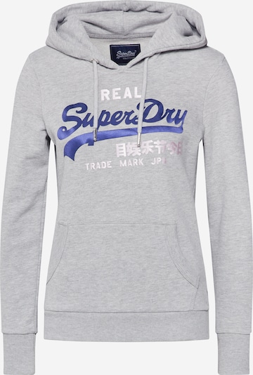 Superdry Sweat-shirt en bleu / gris chiné / rose / blanc, Vue avec produit