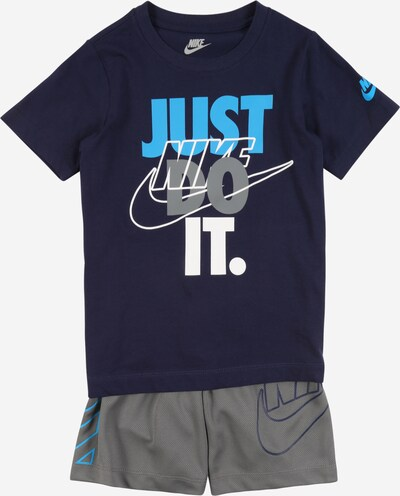Nike Sportswear Set in dunkelblau / rauchgrau / weiß, Produktansicht