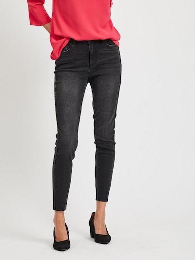VILA Stonewash Cropped Jeans in grau: Frontalansicht