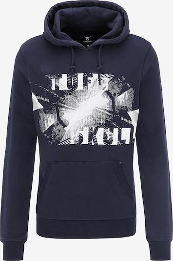 TUFFSKULL Sweatshirt in marine / weiß, Produktansicht
