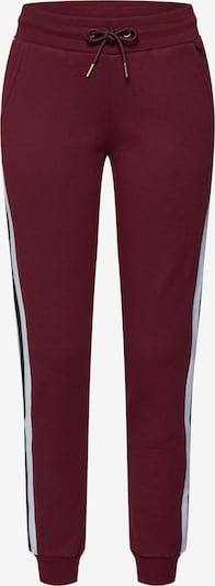 Urban Classics Sweatpants in bordeaux / schwarz / weiß, Produktansicht