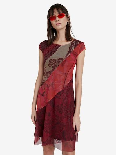 Desigual Kleid 'Vest Houston' in mischfarben / rot, Modelansicht