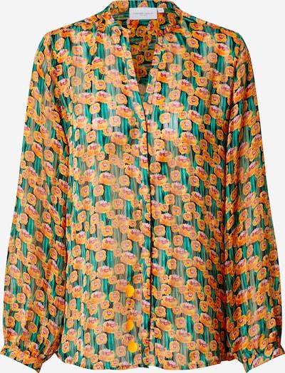 Fabienne Chapot Bluse 'Frida Lou' in khaki / orange, Produktansicht