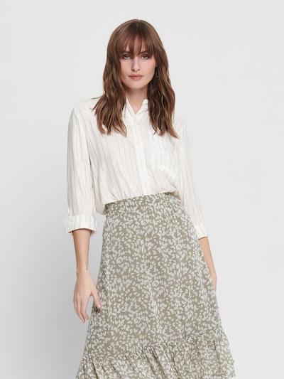 Bluză 'ONLNATALI L/S SHIRT WVN' ONLY pe alb, Vizualizare model