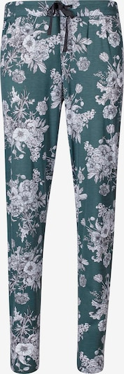 HUBER Pyjamahose in smaragd / weiß, Produktansicht