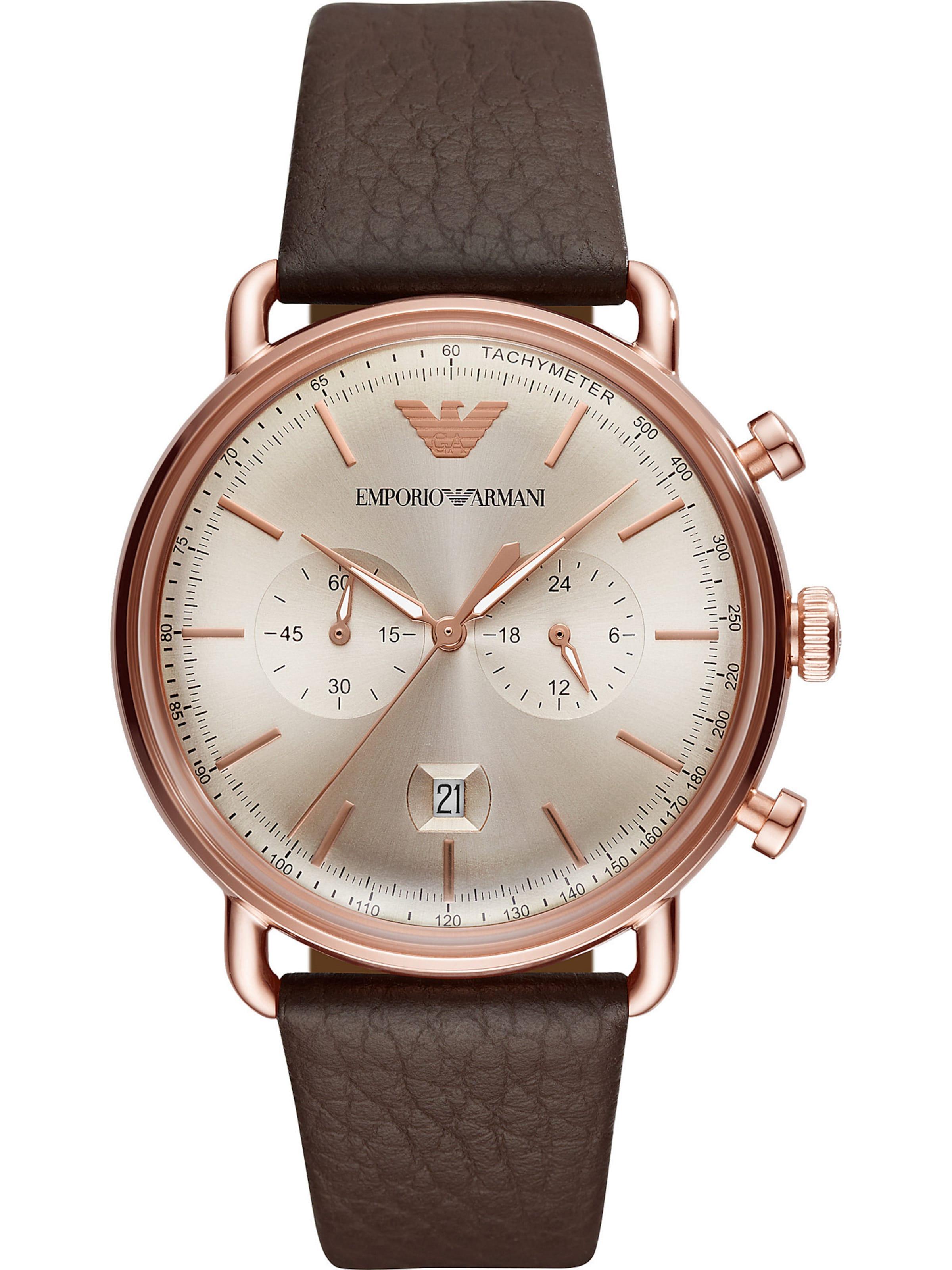 Emporio Armani Uhr 'ar11106' In BraunRosegold QstrCxhd