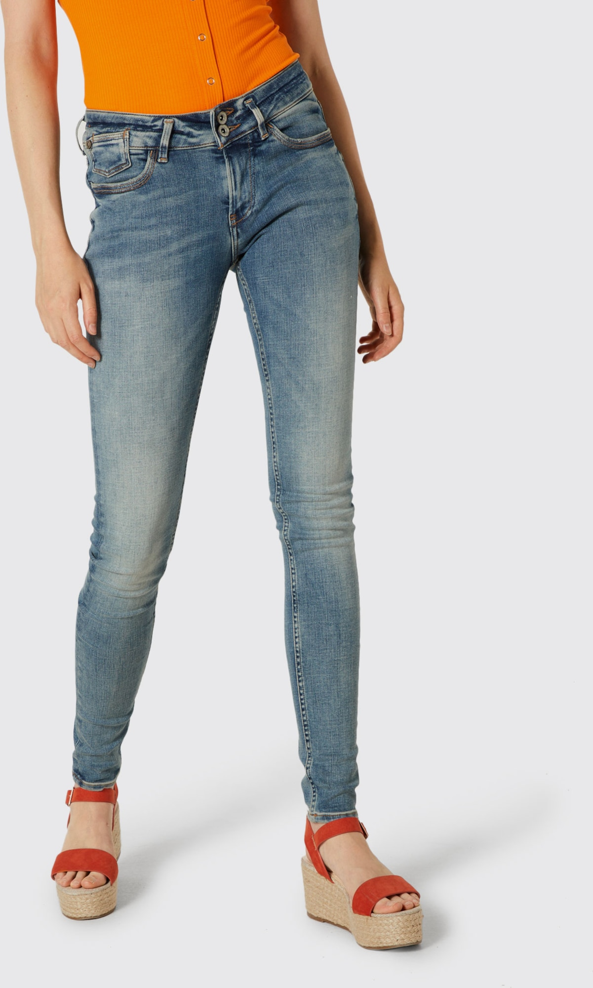 Citaten Weergeven Jeans : Garcia jeans rachelle super slim in blauw about you