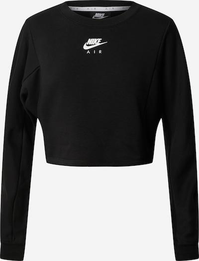 Nike Sportswear Sweat-shirt 'Air Crew' en noir / blanc, Vue avec produit