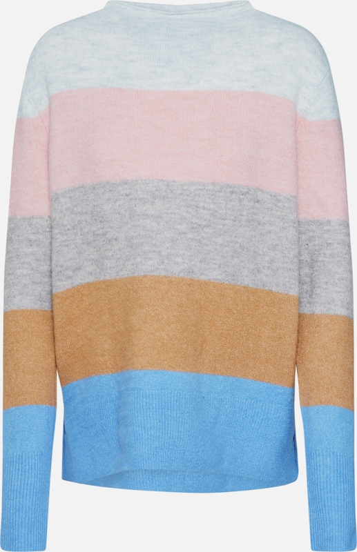 TOM TAILOR DENIM Pullover 'cosy colorblock' in mischfarben, Produktansicht