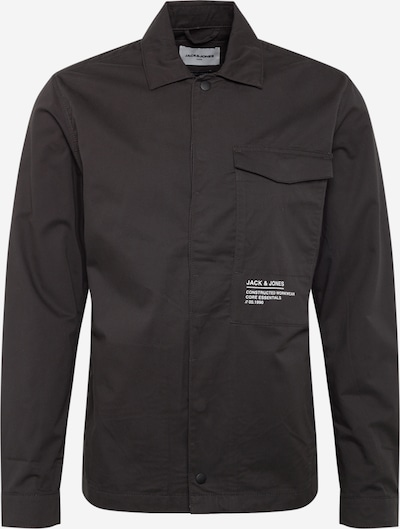 JACK & JONES Košeľa 'JCOBOSS OVERSHIRT LS ONE POCKET' - čierna, Produkt