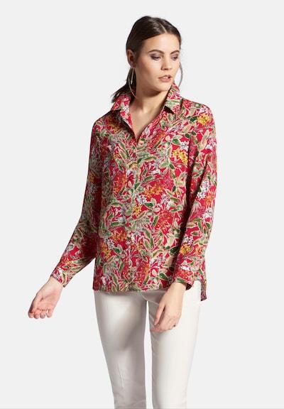 Uta Raasch Bluse in khaki / hellorange / hellrot / weiß, Modelansicht