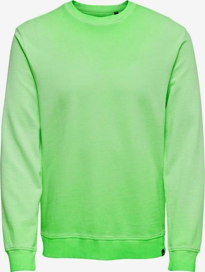 Only & Sons Sweatshirt in neongrün, Produktansicht