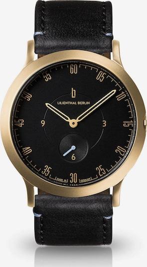 Lilienthal Berlin Uhr in gold / schwarz, Produktansicht