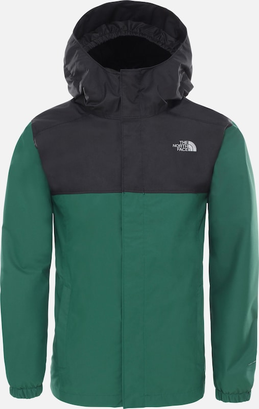 THE NORTH FACE Funktionsjacke 'Resolve' in grün / schwarz, Produktansicht