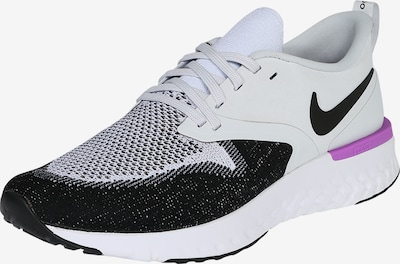 NIKE Chaussure de course 'Odyssey React Flyknit 2' en violet / noir / blanc, Vue avec produit