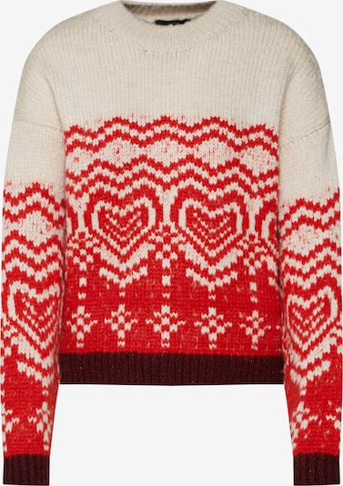 Mavi Pullover 'JACQUARD SWEATER' in rot / weiß, Produktansicht