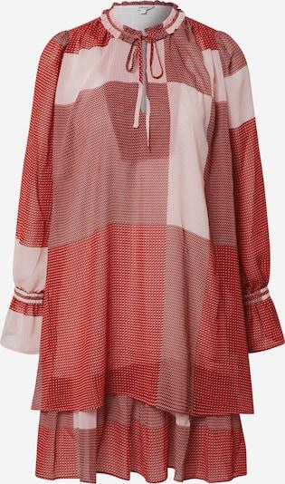 mbym Kleid 'Melinna' in rot / burgunder / weinrot / weiß, Produktansicht