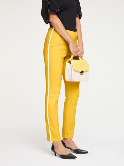 heine Broek in de kleur Geel, Modelweergave