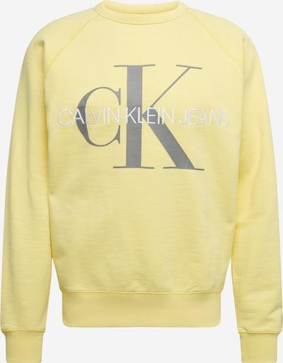 Bluză de molton Calvin Klein Jeans pe galben, Vizualizare produs