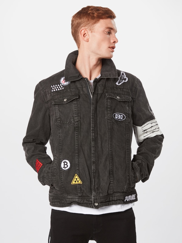 Veste En Be Mi Denim saison 'bedusty Edgy D' Noir nm8N0wOv