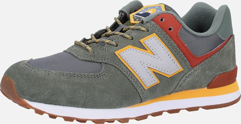 new balance Sneaker in khaki / orange / rot: Frontalansicht