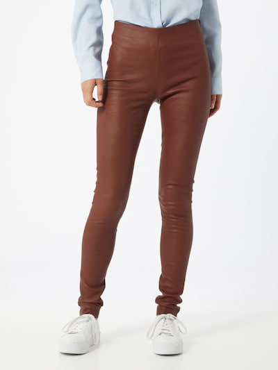 SELECTED FEMME Legging 'Sylvia' in weinrot, Modelansicht