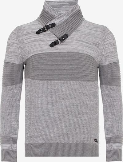 CIPO & BAXX Strickpullover in grau / hellgrau / graumeliert, Produktansicht