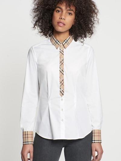 SEIDENSTICKER Bluse in dunkelbeige / rot / schwarz / weiß, Modelansicht
