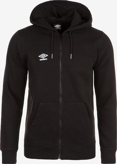 UMBRO Sweatjacke in schwarz / weiß, Produktansicht