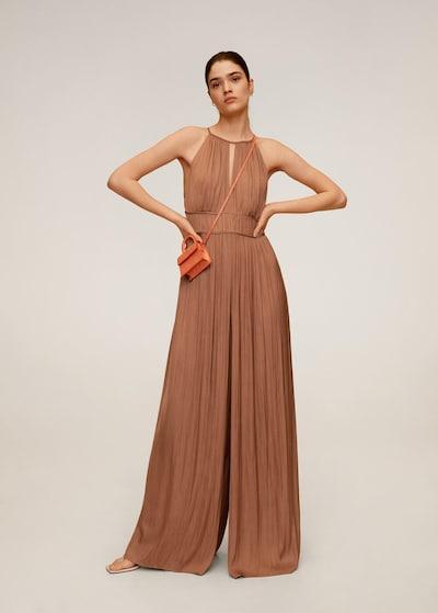 MANGO Jumpsuit 'Angela' in chamois, Modelansicht