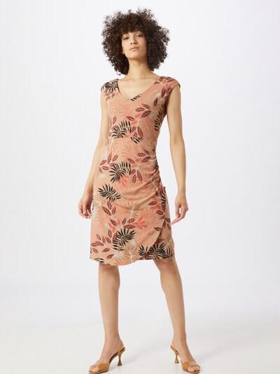 Kaffe Kleid 'Orvilla' in mokka / grün / mischfarben, Modelansicht