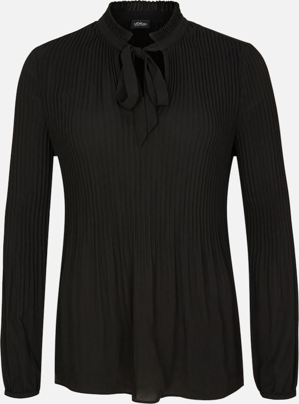 S.Oliver schwarz LABEL SchluppenBlause in in in schwarz  Mode neue Kleidung 9b0ea7
